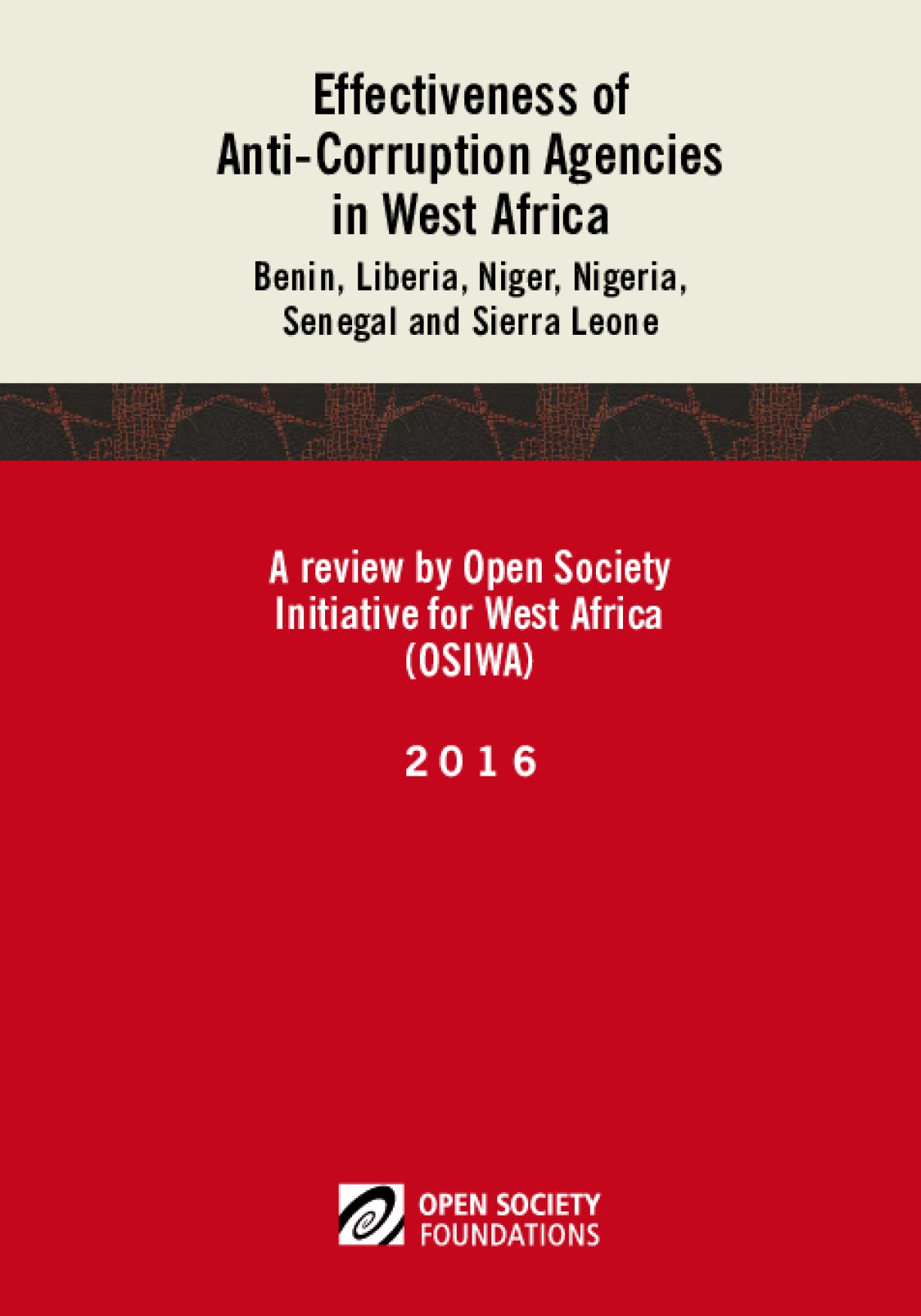 Effectiveness of Anticorruption Agencies in West Africa