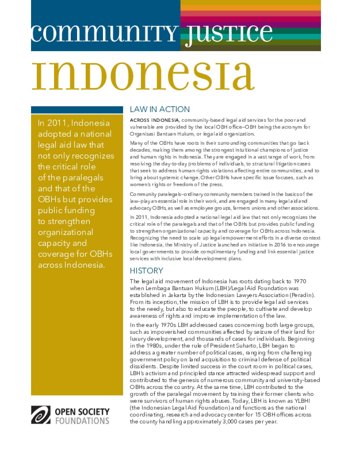 Community Justice Indonesia