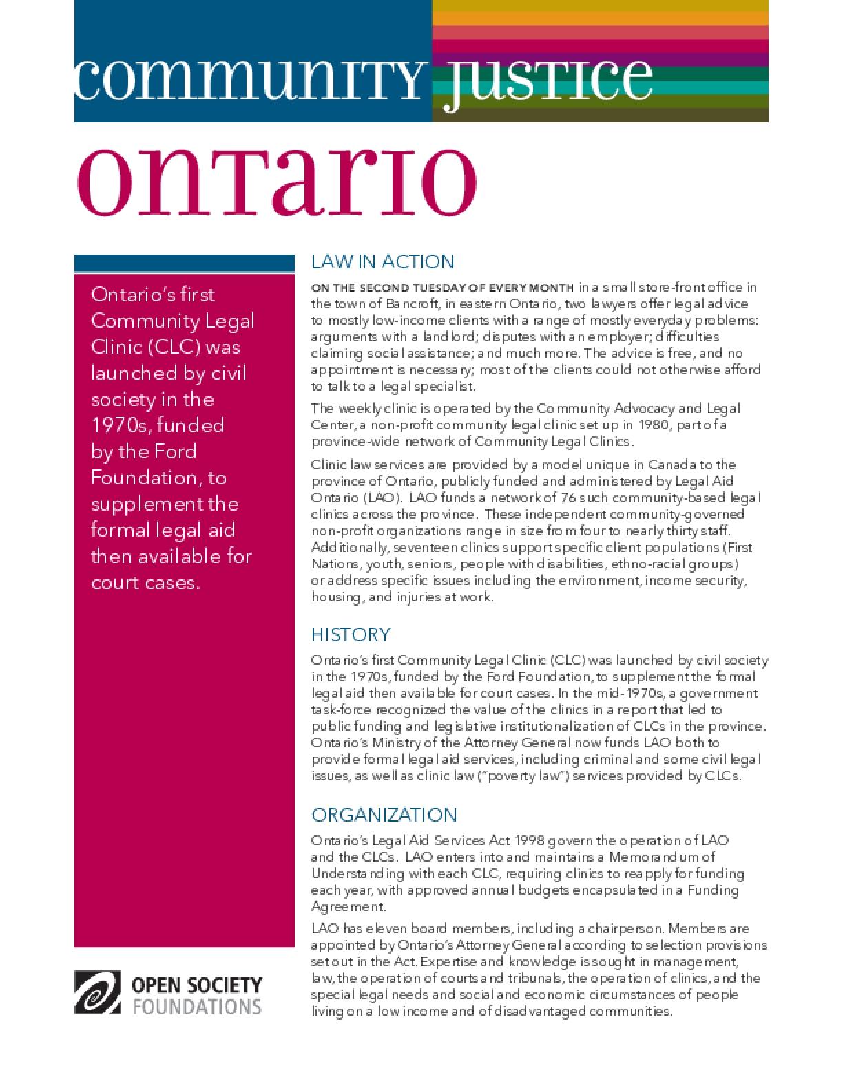 Community Justice Ontario
