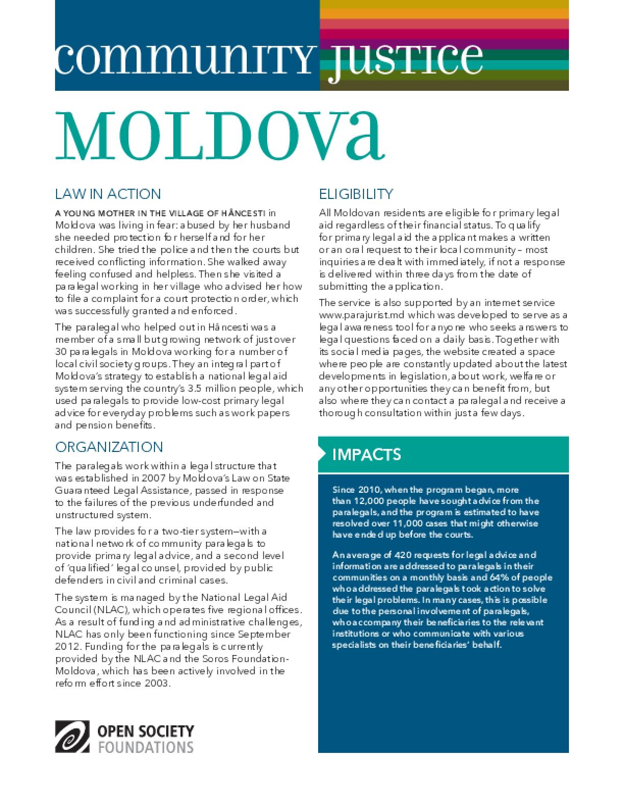 Community Justice Moldova