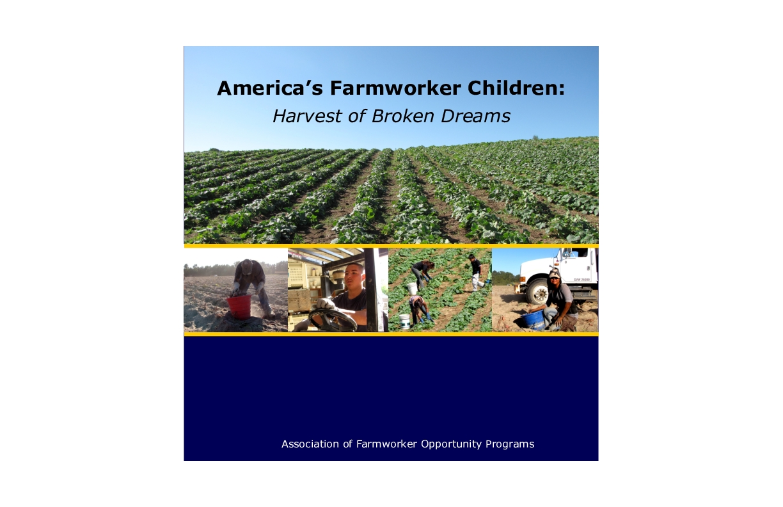 America's Farmworker Children: Harvest of Broken Dreams