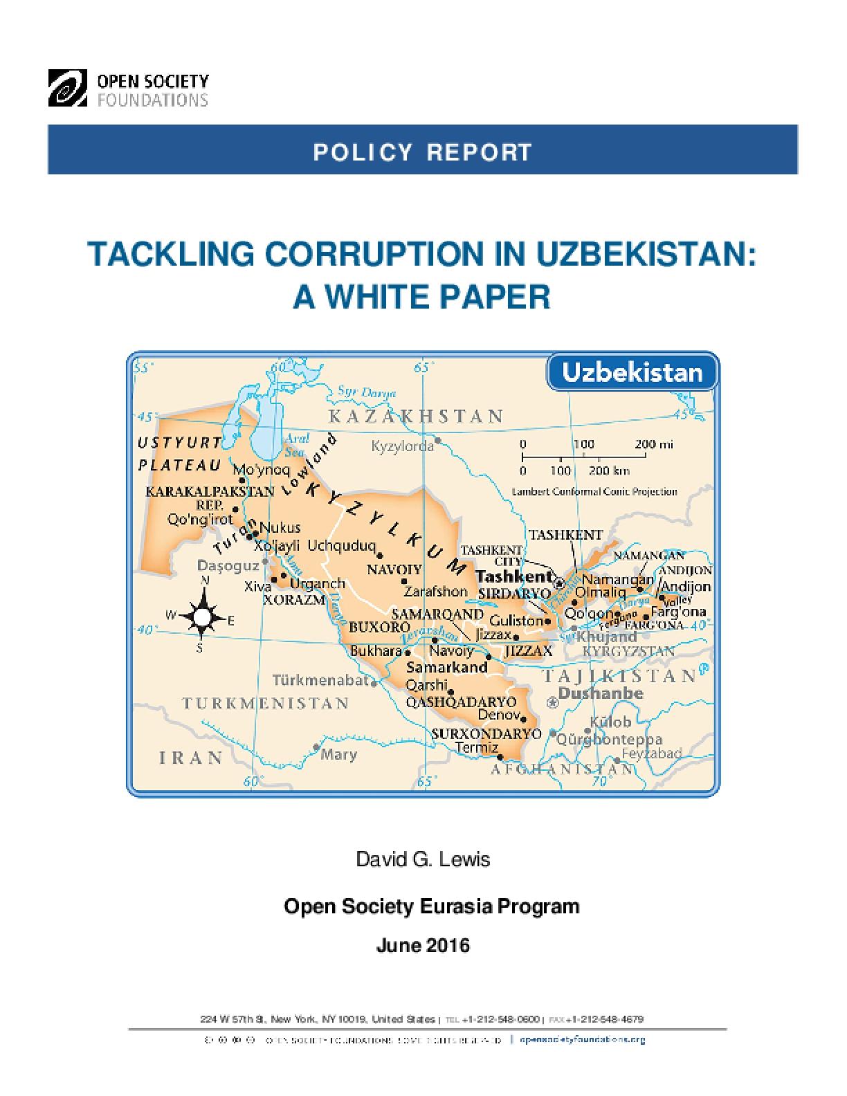 Tackling Corruption in Uzbekistan