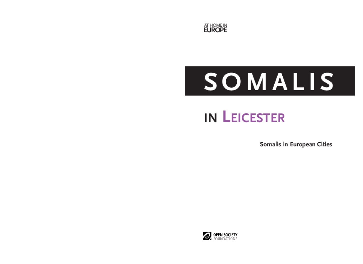 Somalis in Leicester