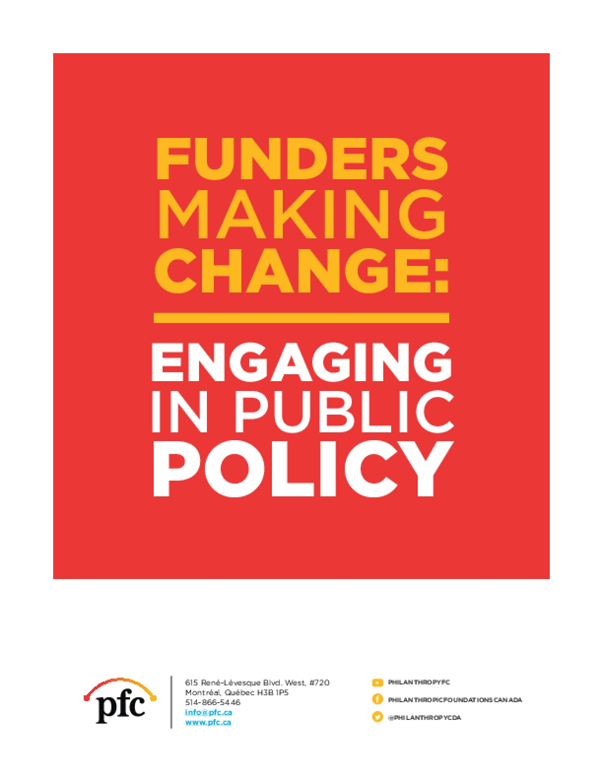 Funders Making Change: Engaging in Public Policy