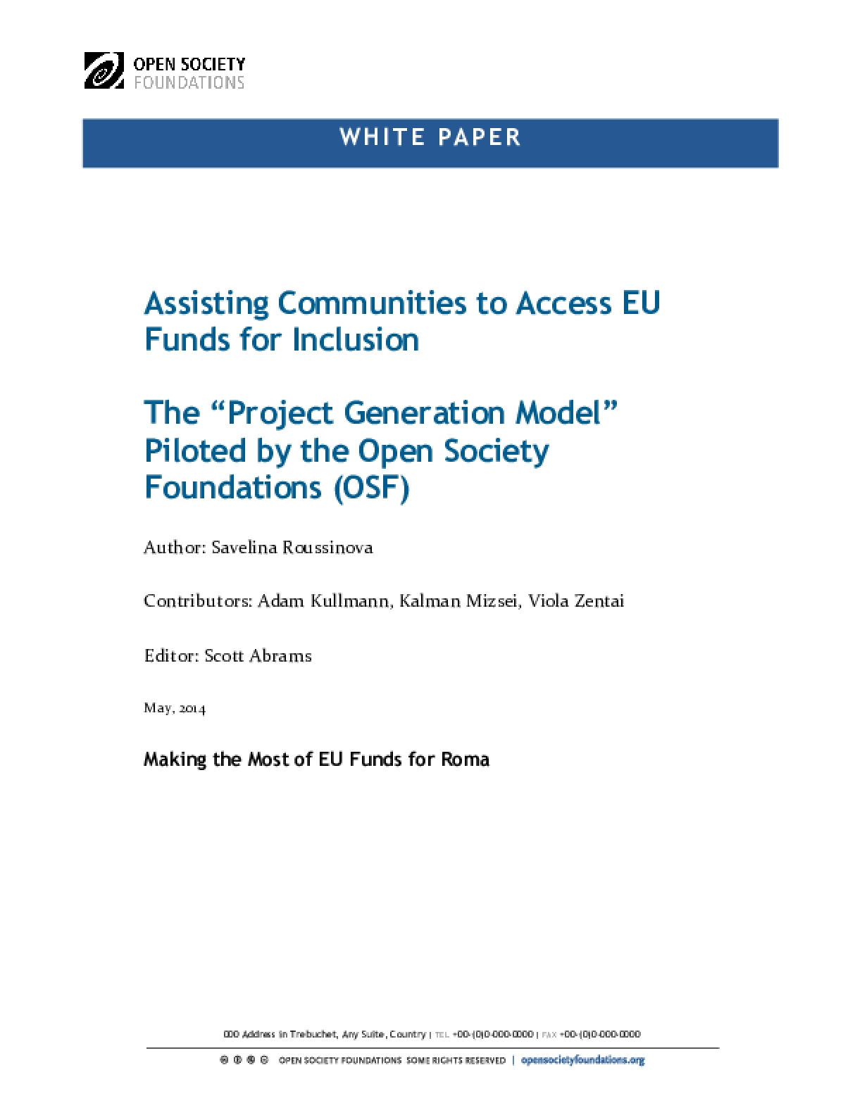 Assisting Communities to Access EU Funds for Inclusion