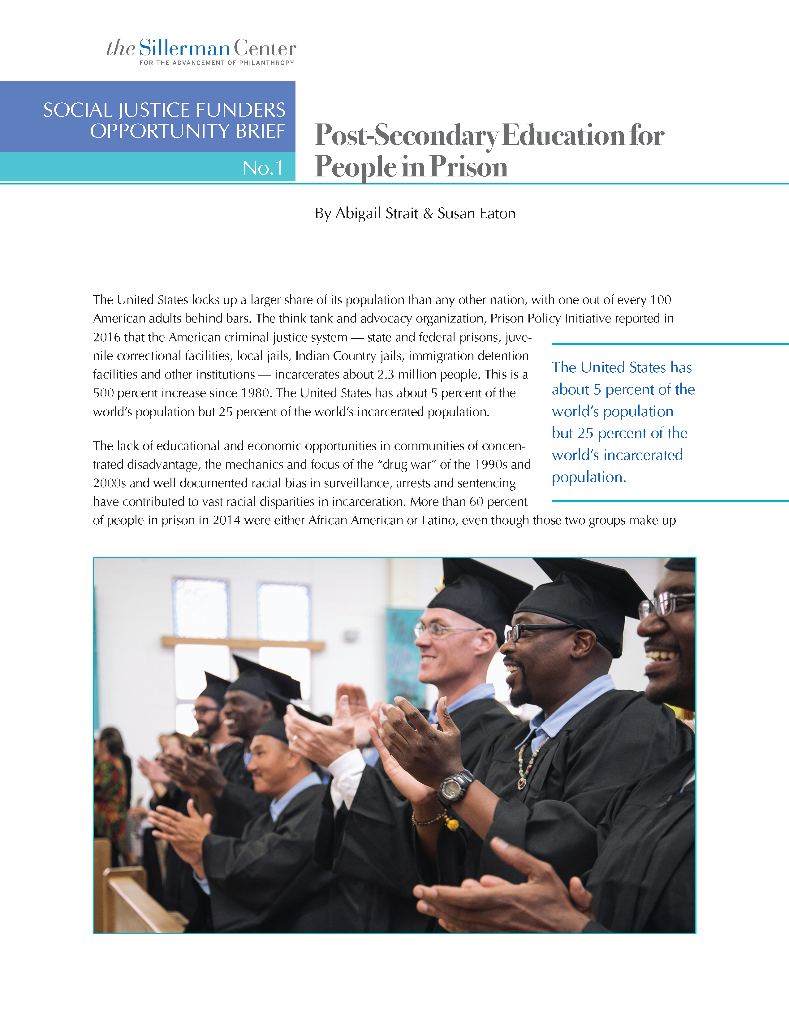 Post-Secondary Education for People in Prison