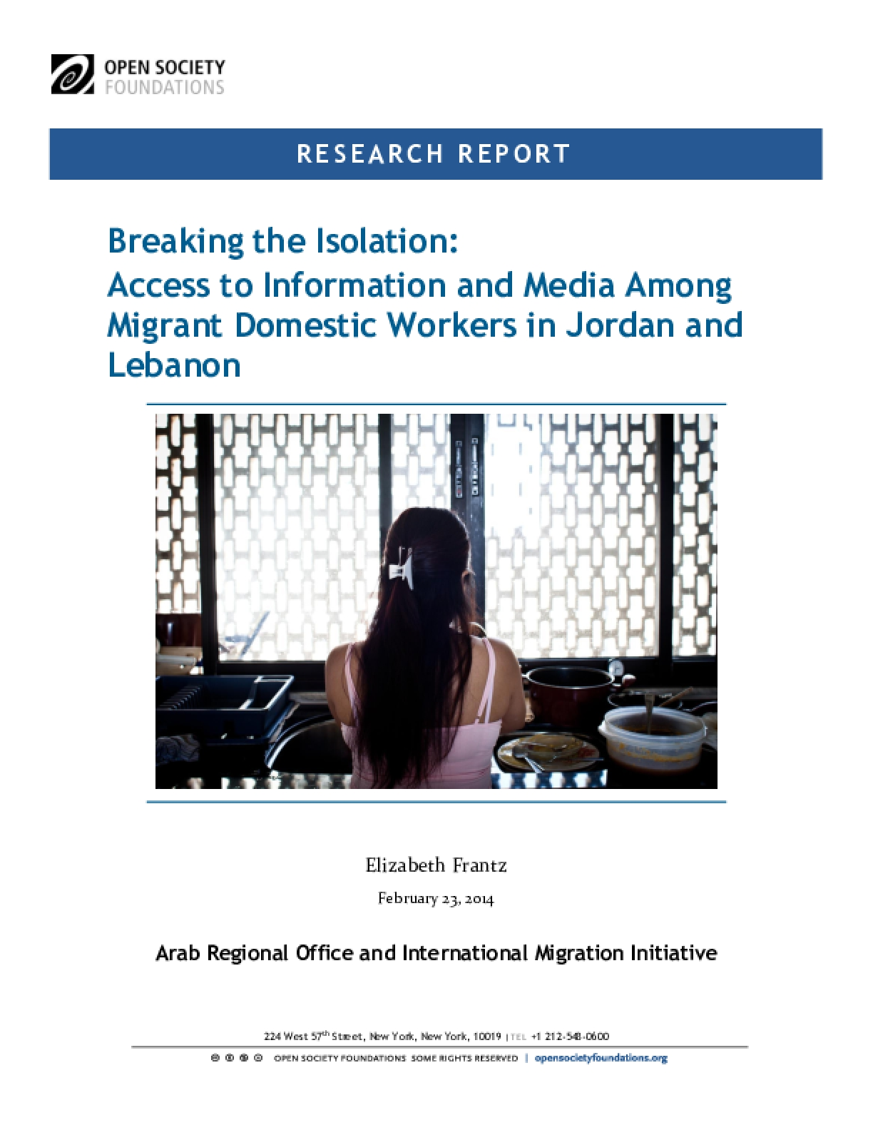 Breaking the Isolation: Access to Information and Media Among Migrant Domestic Workers in Jordan and Lebanon