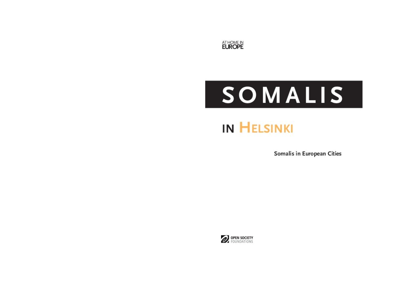 Somalis in Helsinki