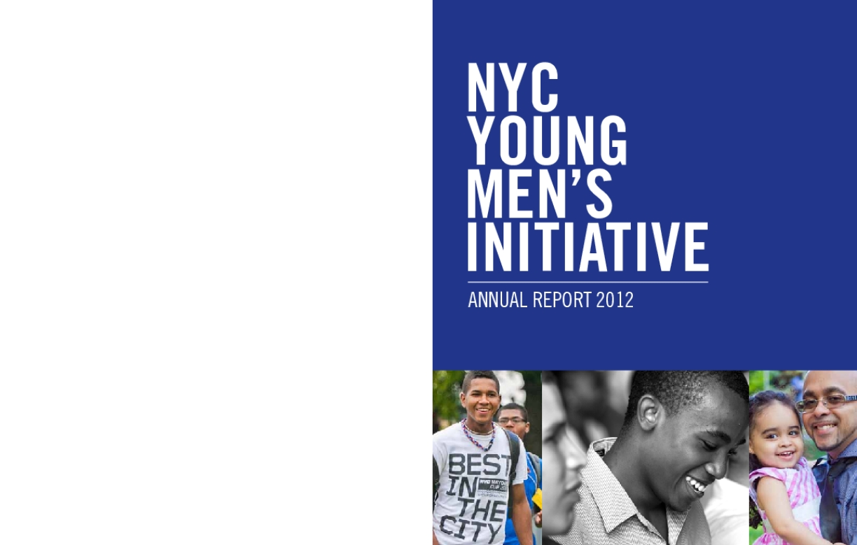 Young Men's Initiative 2012 Annual Report