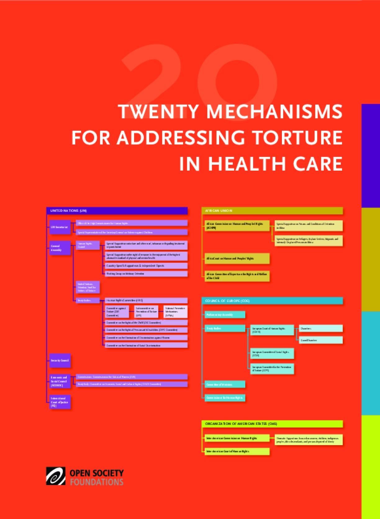 Twenty Mechanisms for Addressing Torture in Health Care