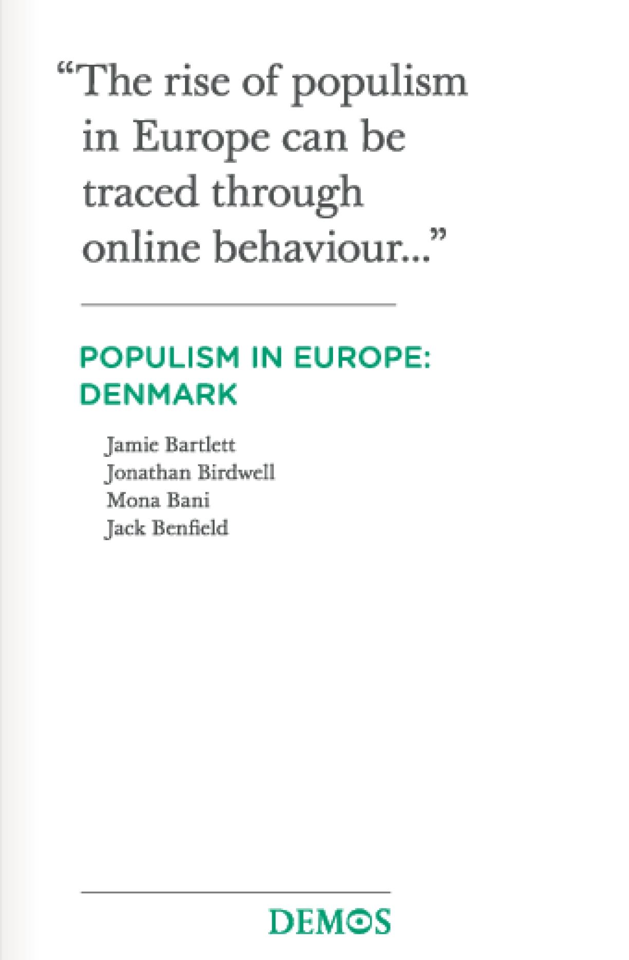 Populism in Europe: Denmark