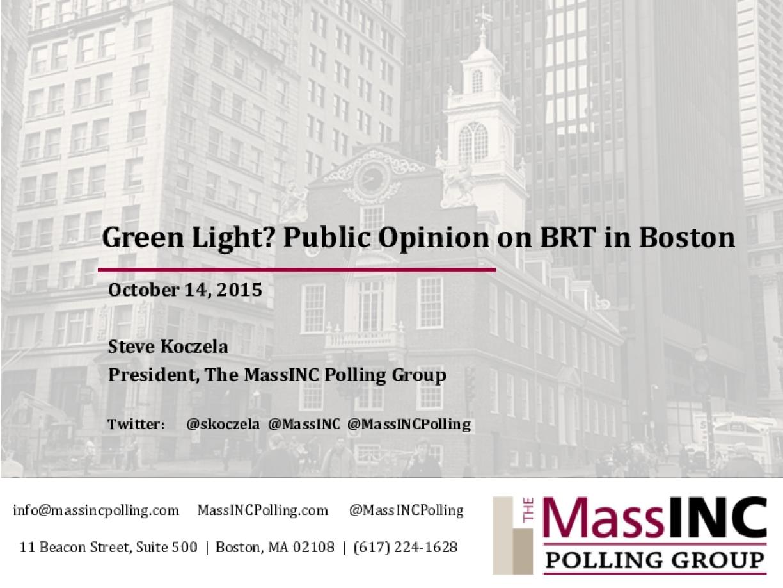 Green Light? Public Opinion on BRT in Boston