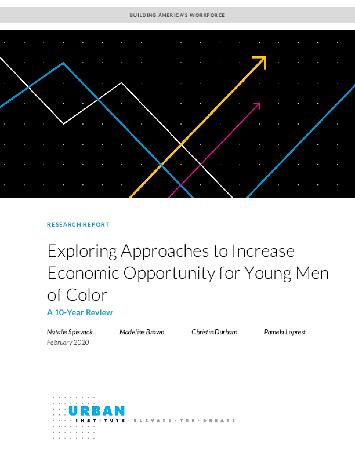 Exploring Approaches to Increase Economic Opportunity for Young Men of Color: A 10-Year Review