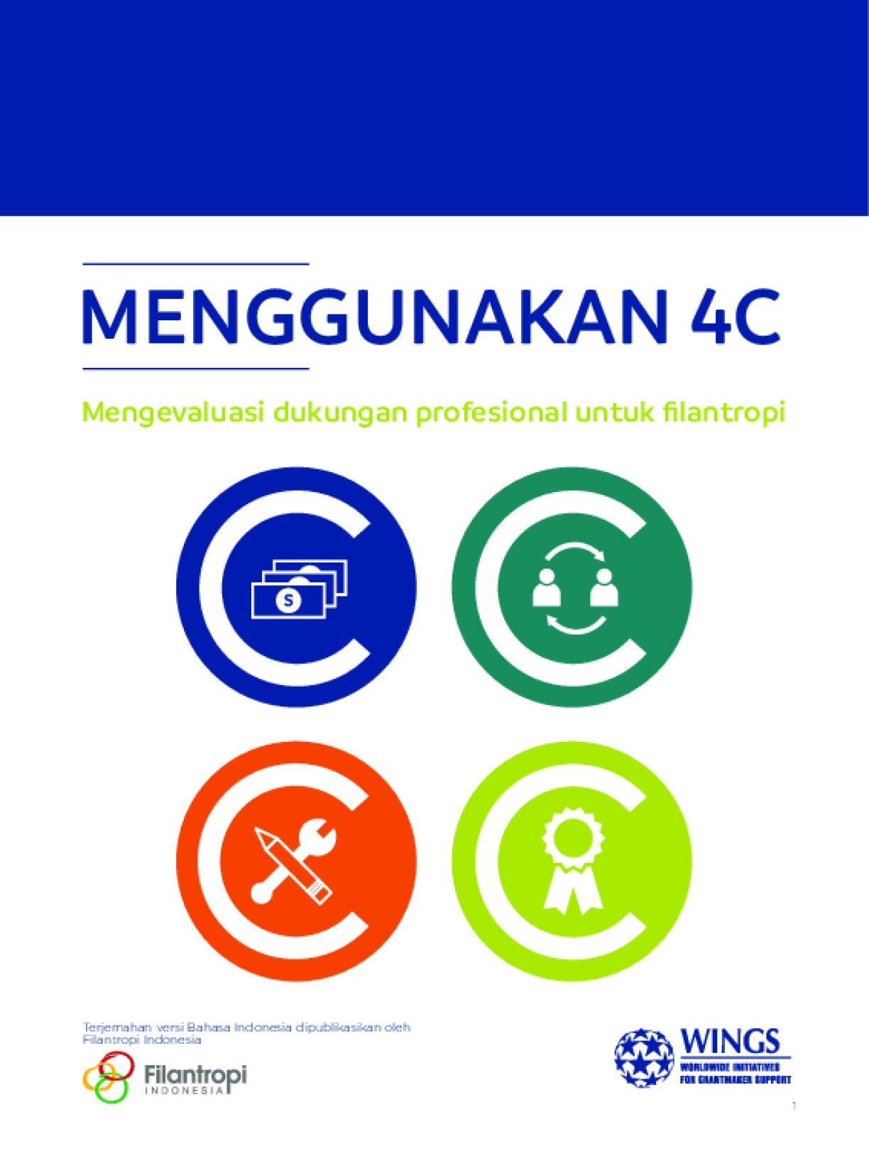 Using the 4Cs: Evaluating Professional Support to Philanthropy - Indonesian Version