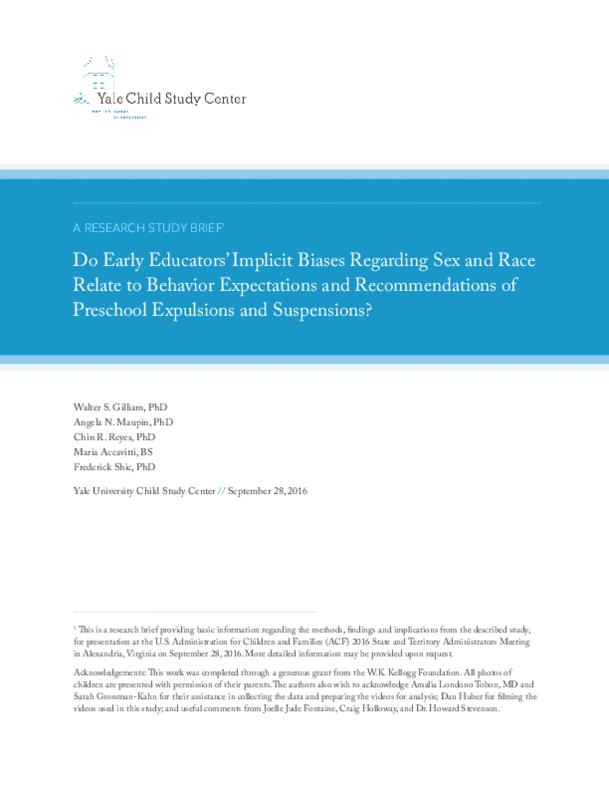 Do Early Educators' Implicit Biases Regarding Sex and Race Relate to Behavior Expectations and Recommendations of Preschool Expulsions and Suspensions?