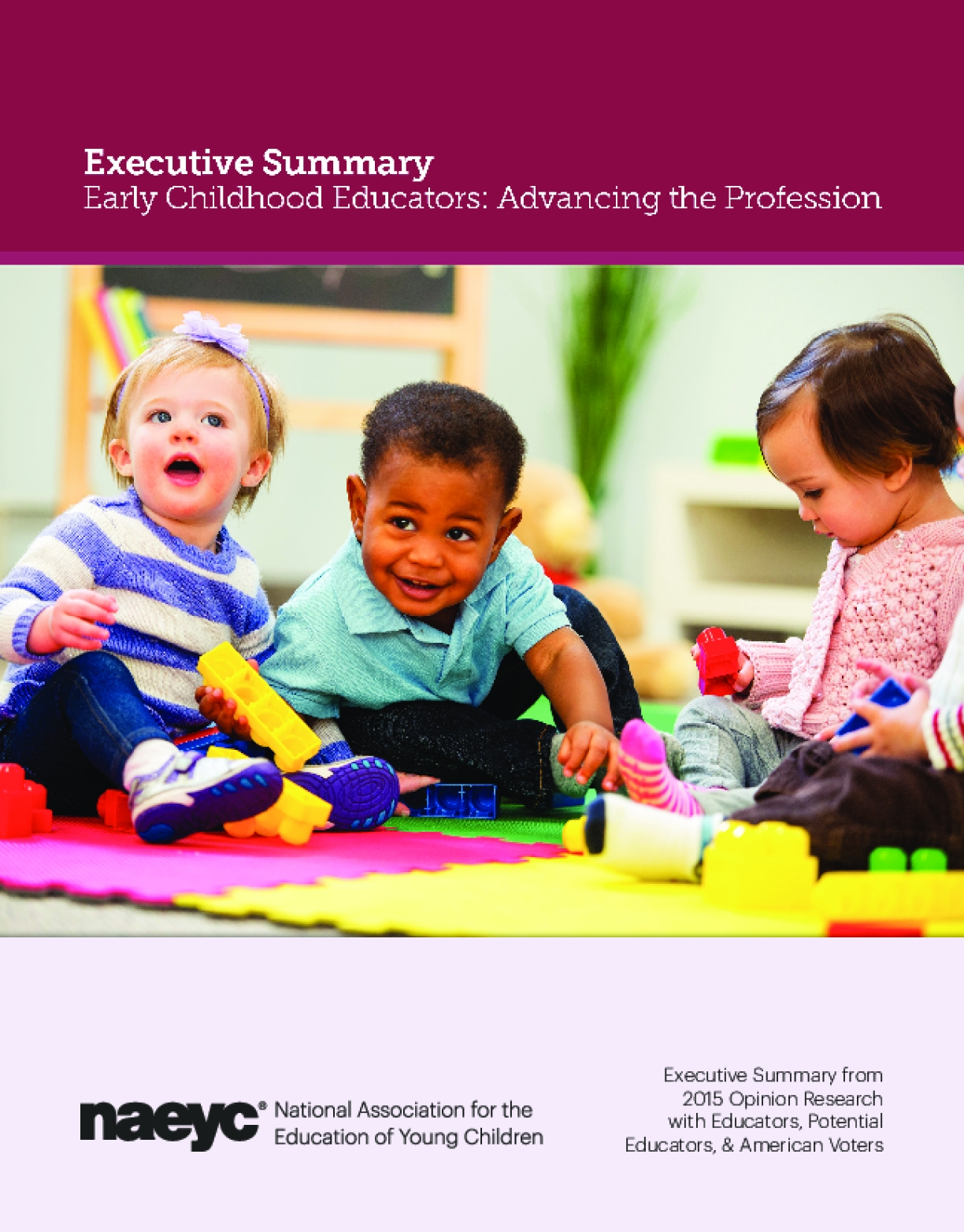 Early Childhood Educators: Advancing the Profession (Executive Summary)
