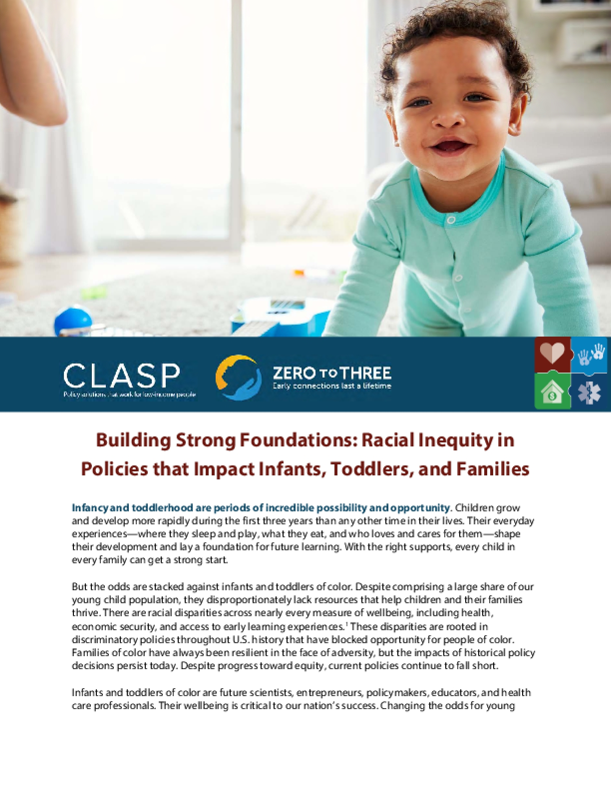 Building Strong Foundations: Racial Inequity in Policies that Impact Infants, Toddlers, and Families