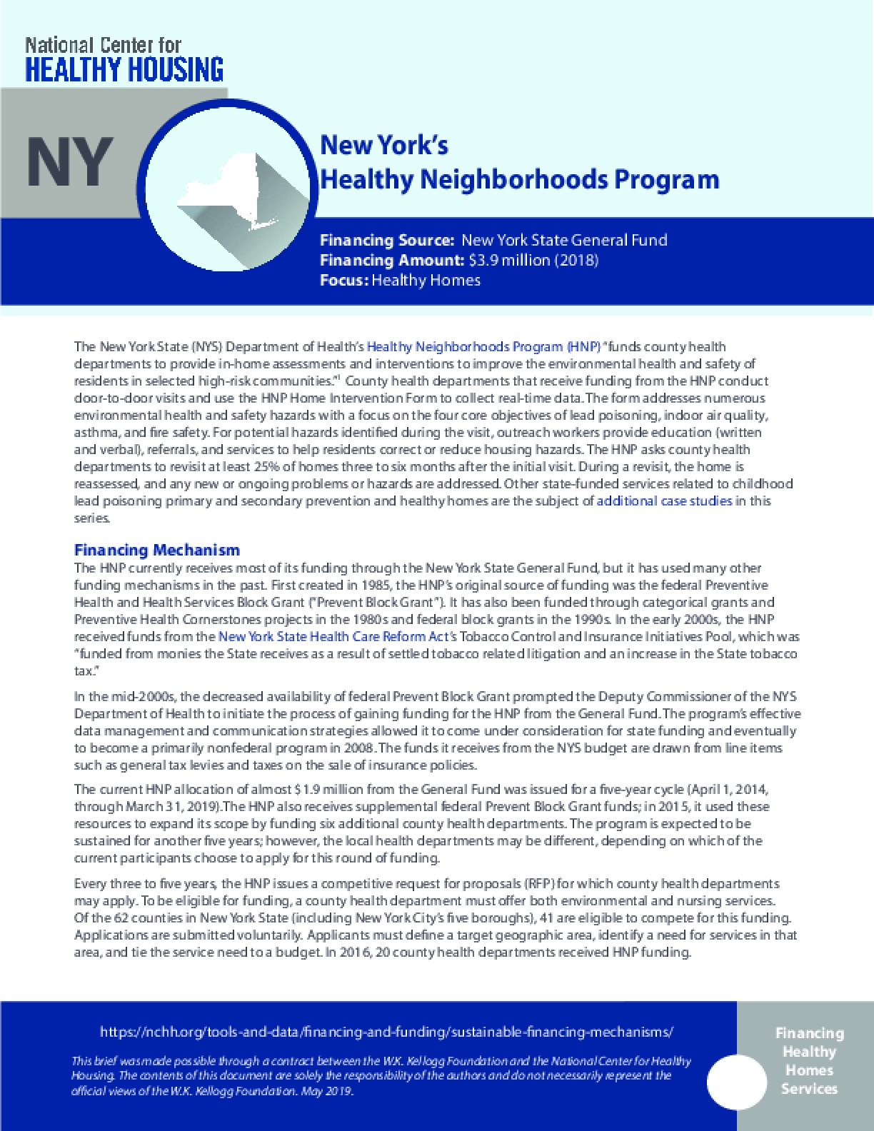 New York's Healthy Neighborhoods Program