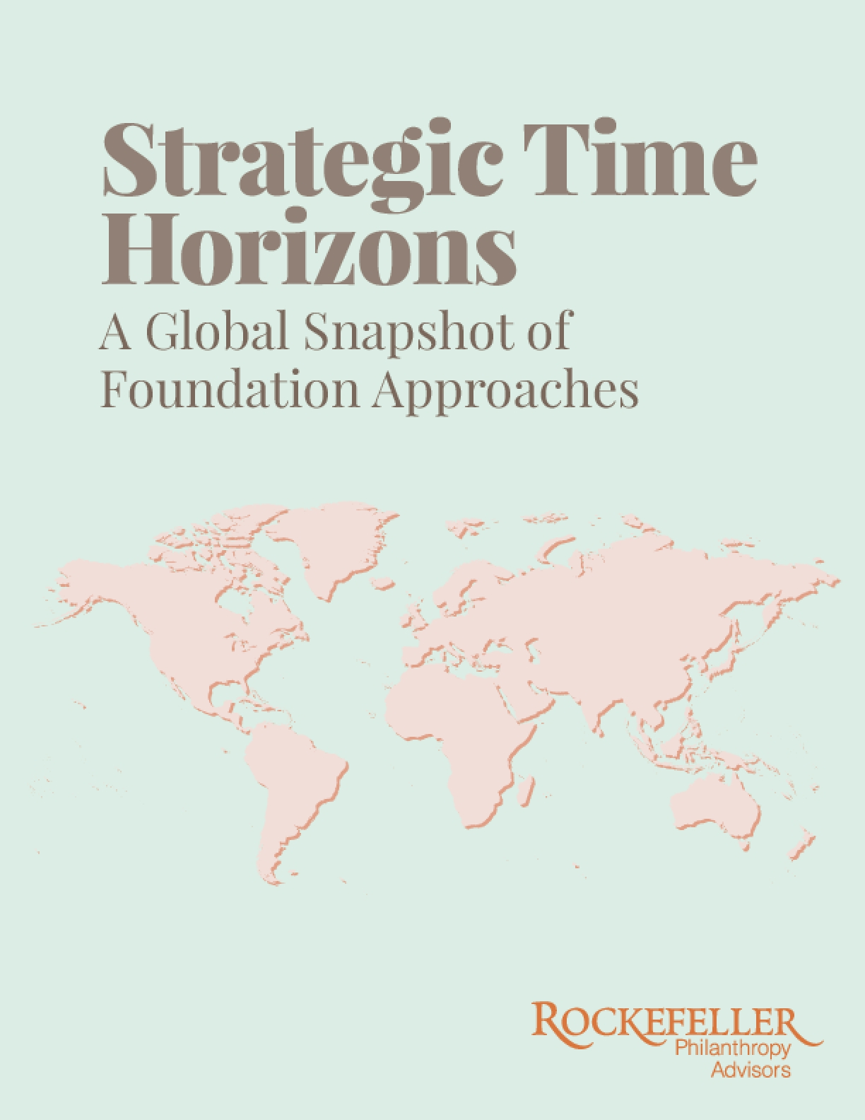 Strategic Time Horizons : A Global Snapshot of Foundation Approaches