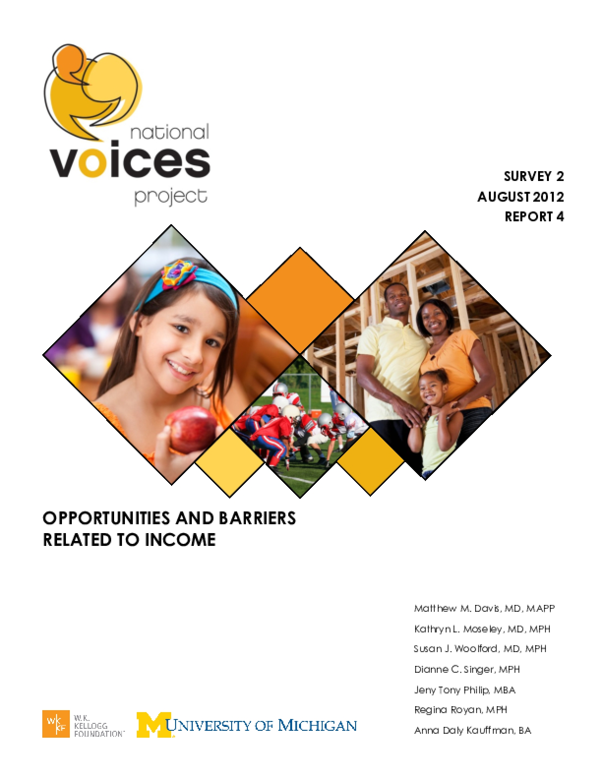 Opportunities and Barriers Related to Income (Survey 2, Report 4)