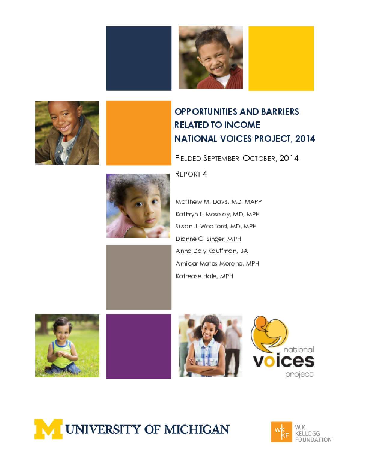 Opportunities and Barriers Related to Income (NVP 2014, Report 4)