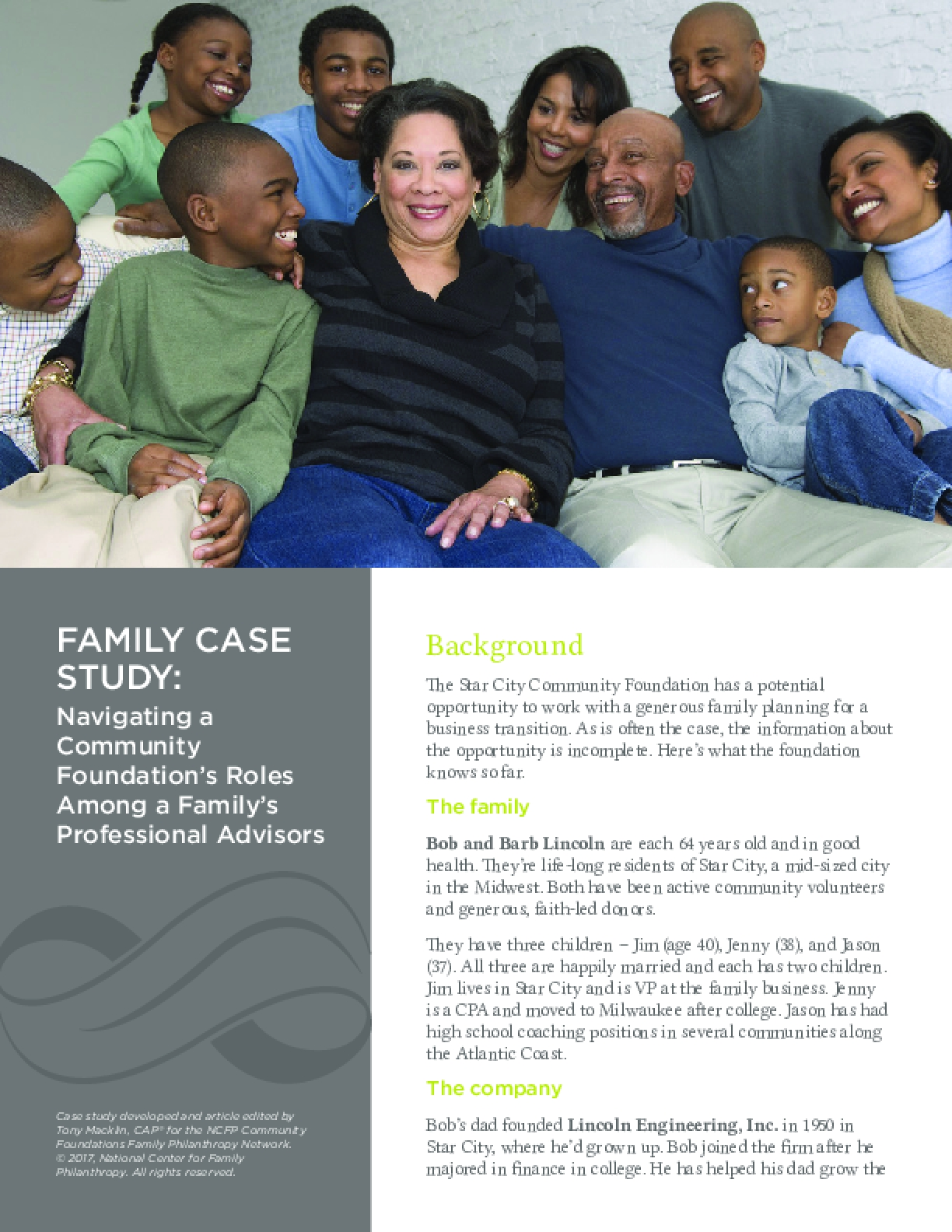 FAMILY CASE STUDY: Navigating a Community Foundation's Roles Among a Family's Professional Advisors