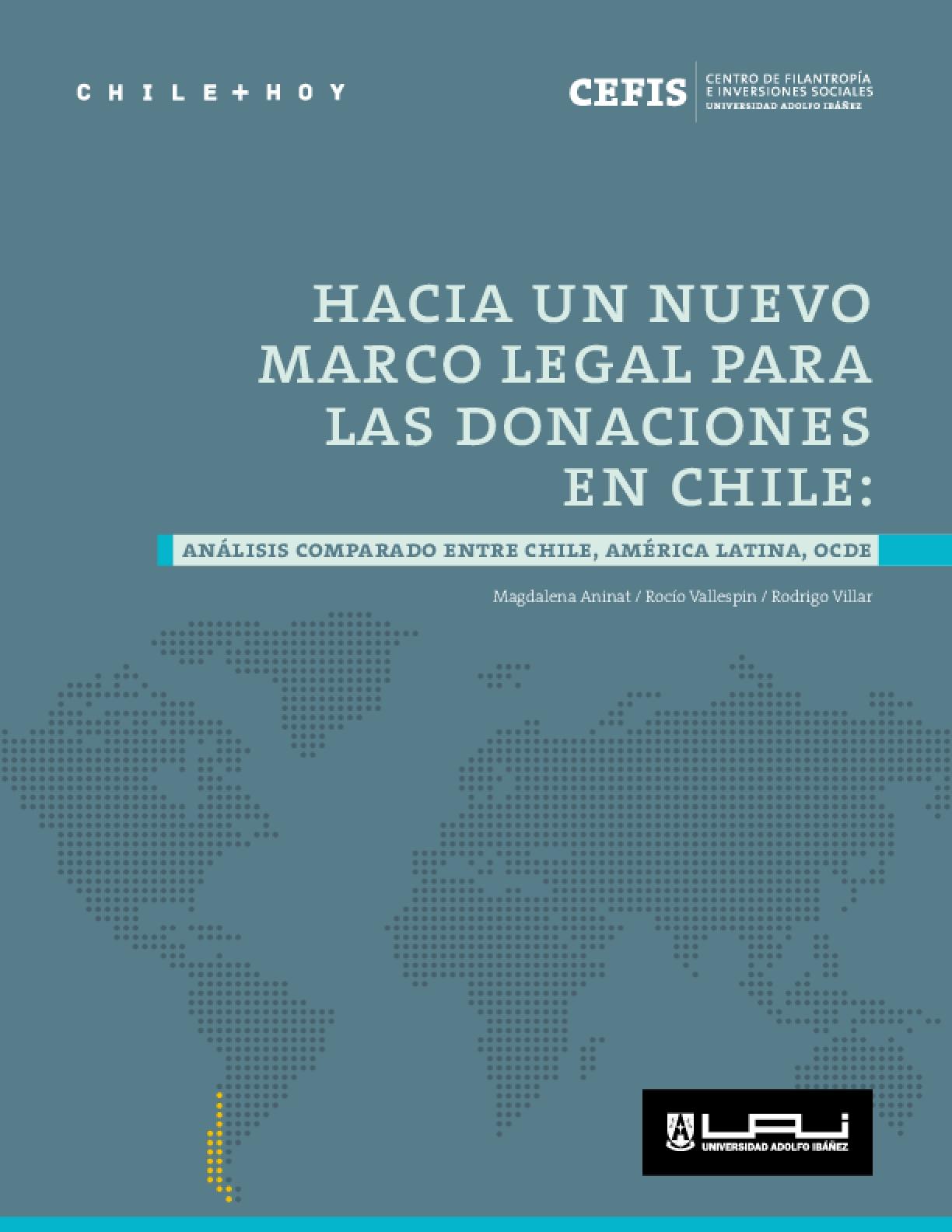 Hacia un nuevo marco legal para las donaciones en Chile: análisis comparado entre Chile, América Latina, OCDE