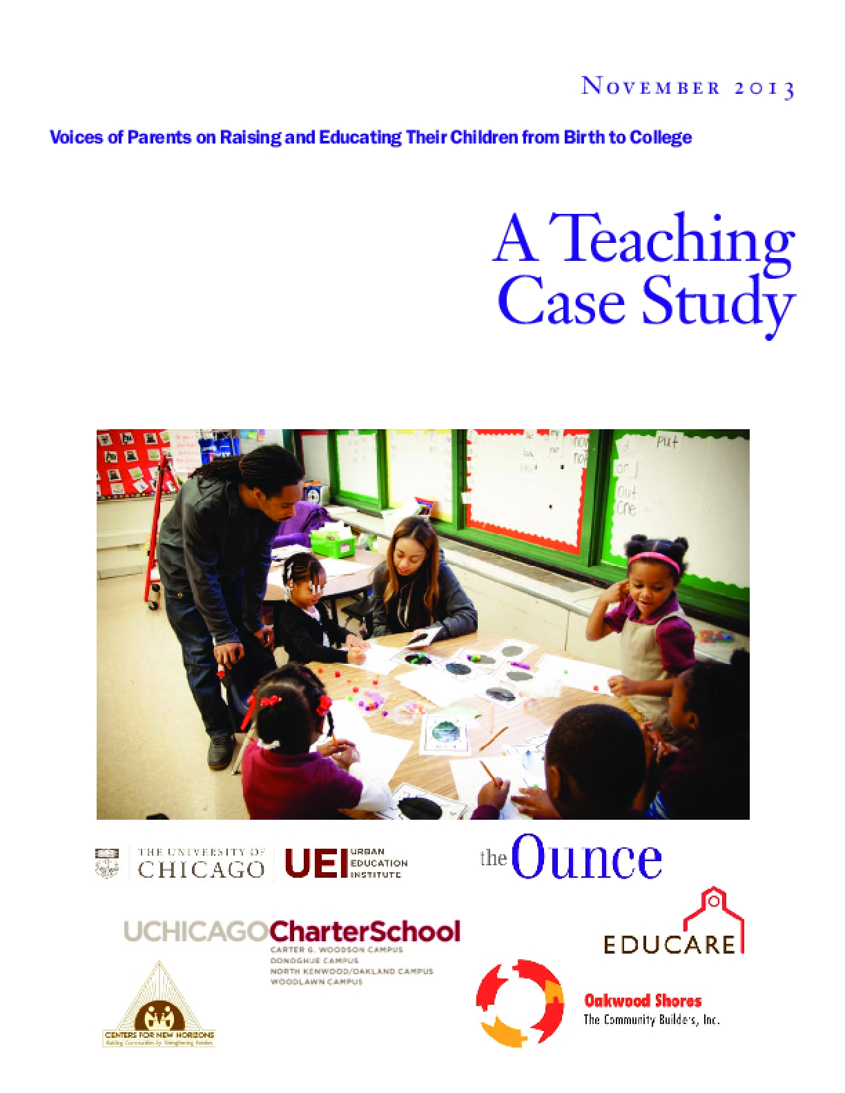 Voices of Parents on Raising and Educating Their Children from Birth to College: A Teaching Case Study