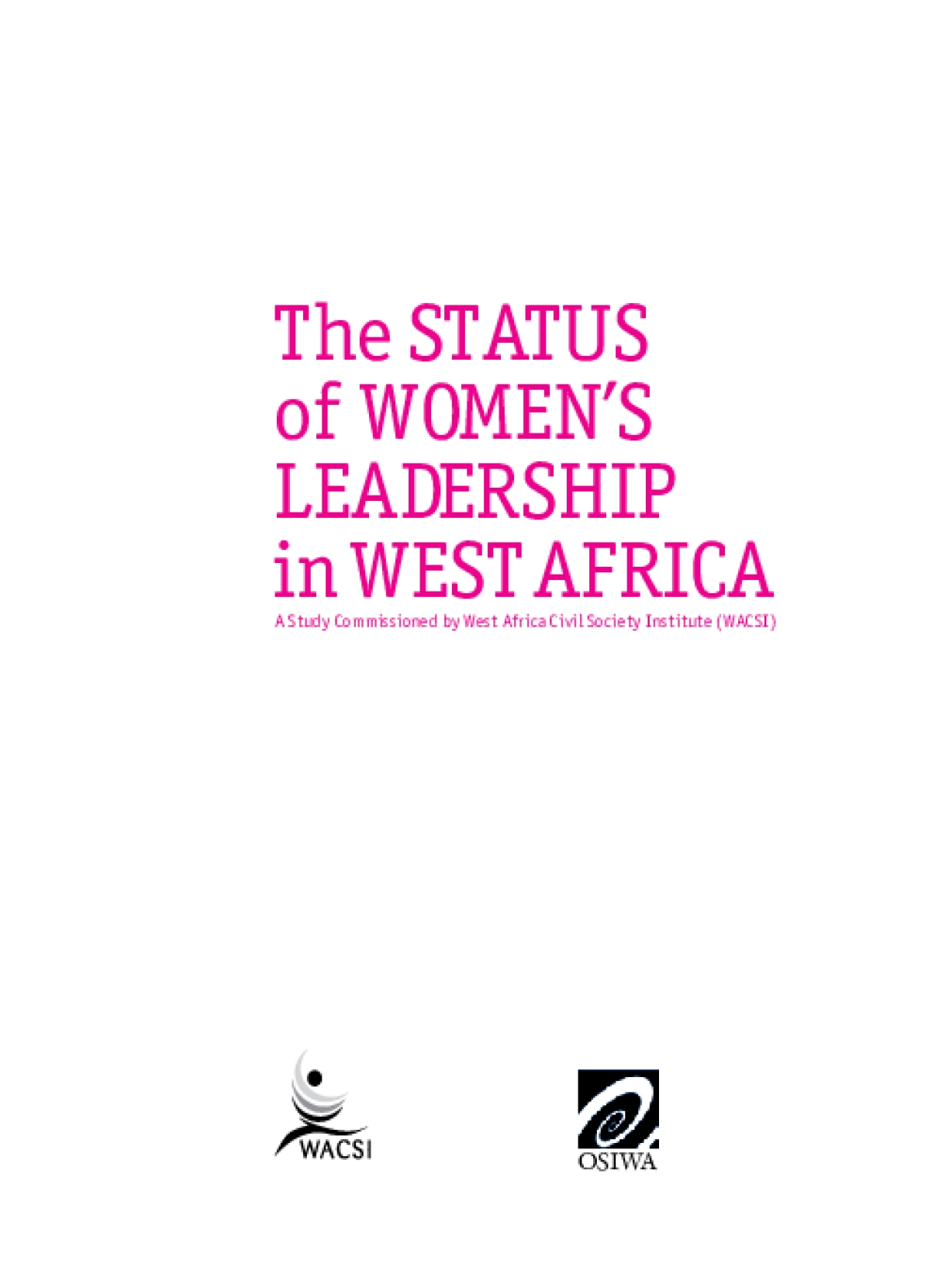 The Status of Women's Leadership in West Africa