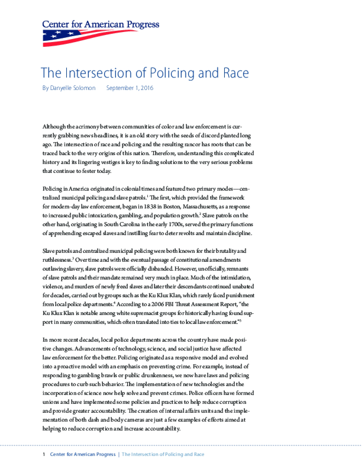The Intersection of Policing and Race