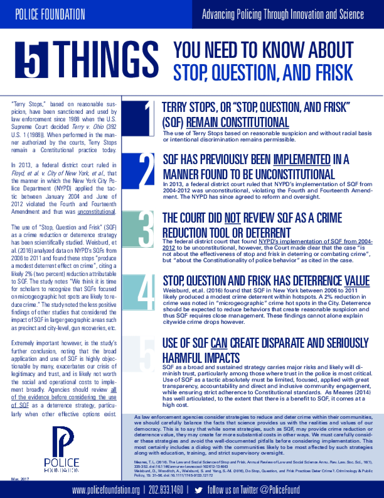 5 Things You Need to Know About Stop, Question, and Frisk