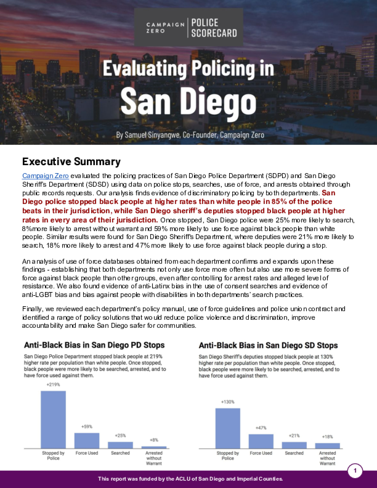 Evaluating Policing in San Diego