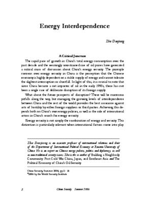 Energy Interdependence