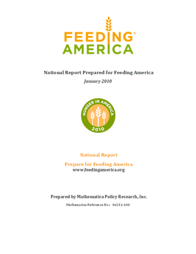Hunger in America 2010 National Report
