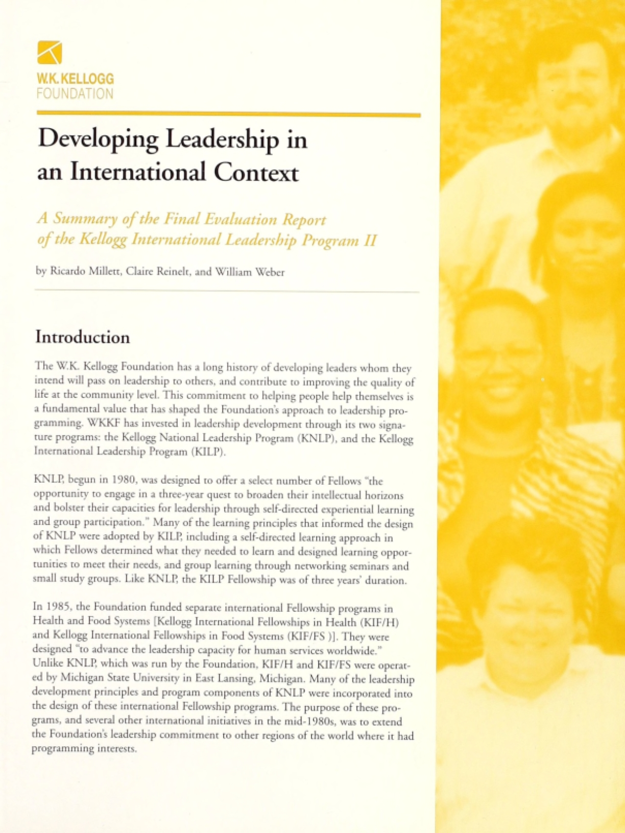 Developing Leadership in an International Context: A Summary of the Final Evaluation Report of the Kellogg International Leadership Program II
