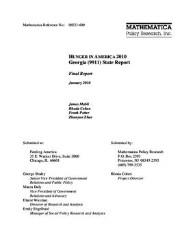 Hunger in America 2010 Georgia State Report