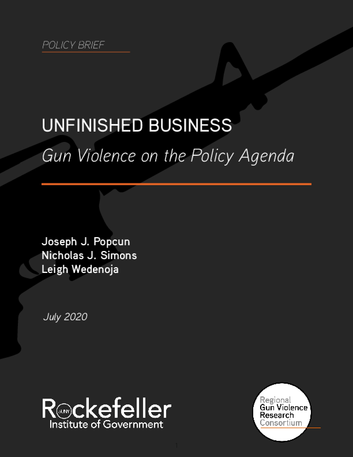Unfinished Business: Gun Violence on the Policy Agenda