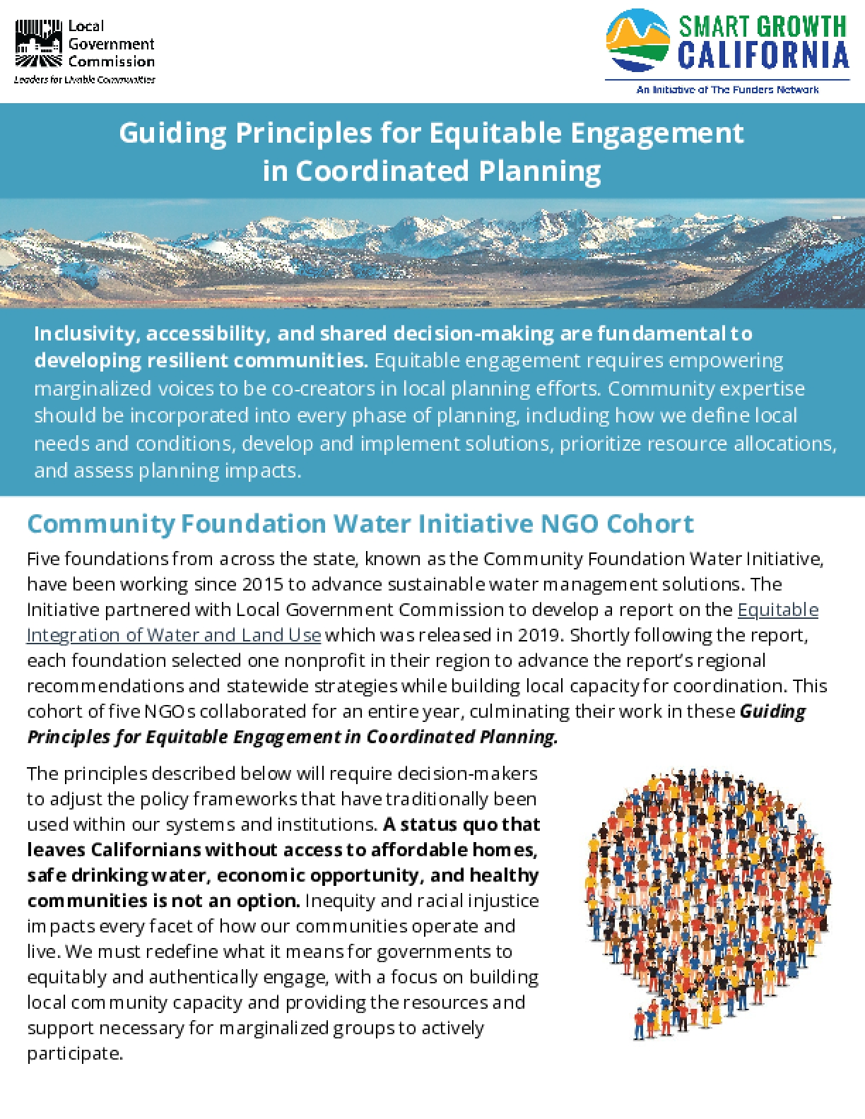 Guiding Principles for Equitable Engagement in Coordinated Planning
