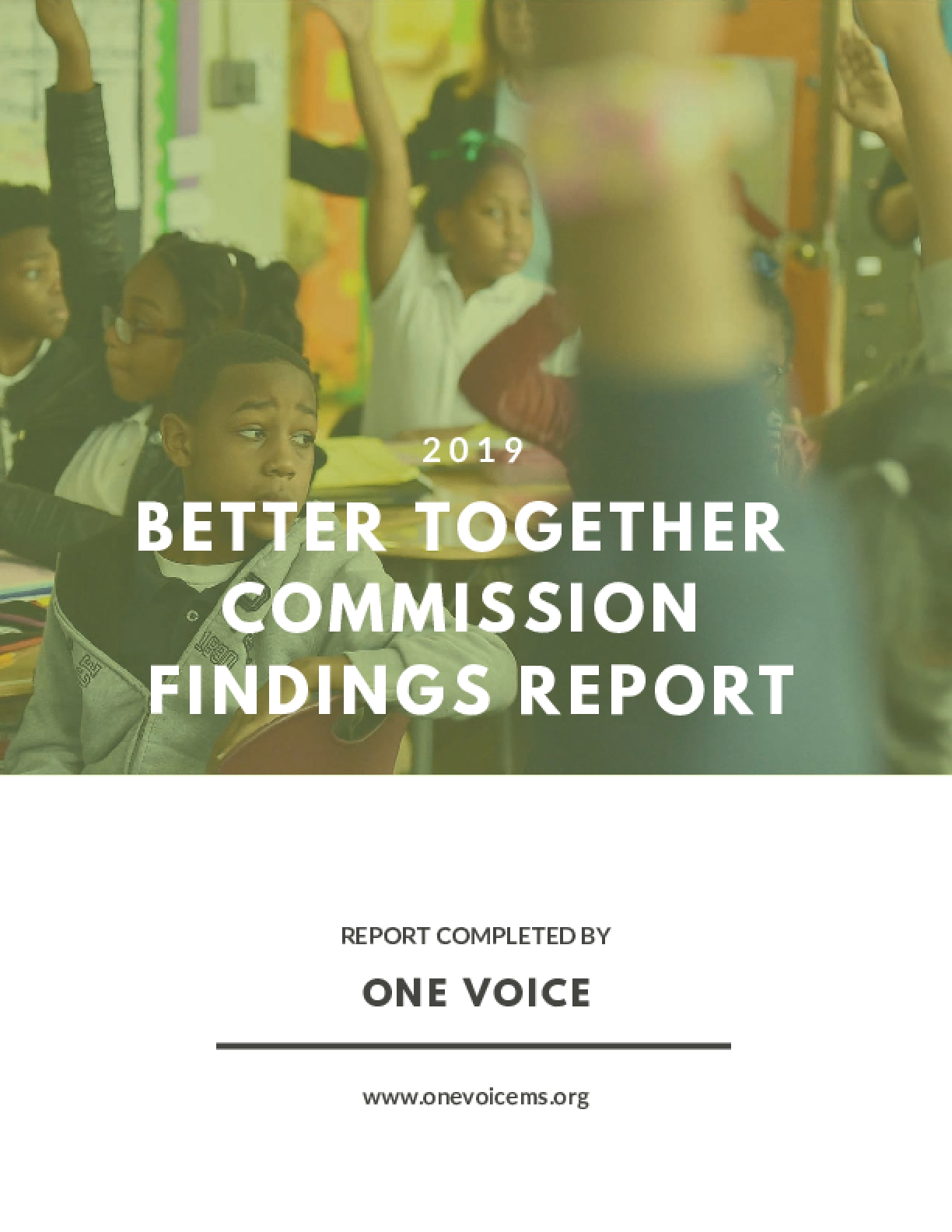 Better Together Commission Findings Report 2019
