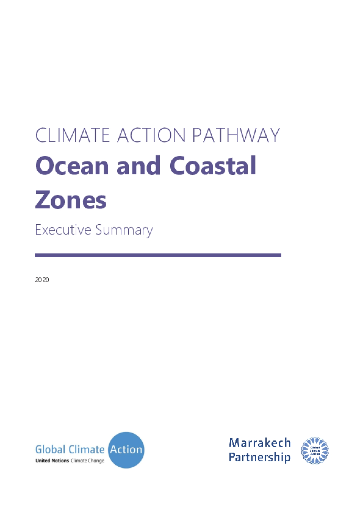 CLIMATE ACTION PATHWAY: Ocean and Coastal Zones