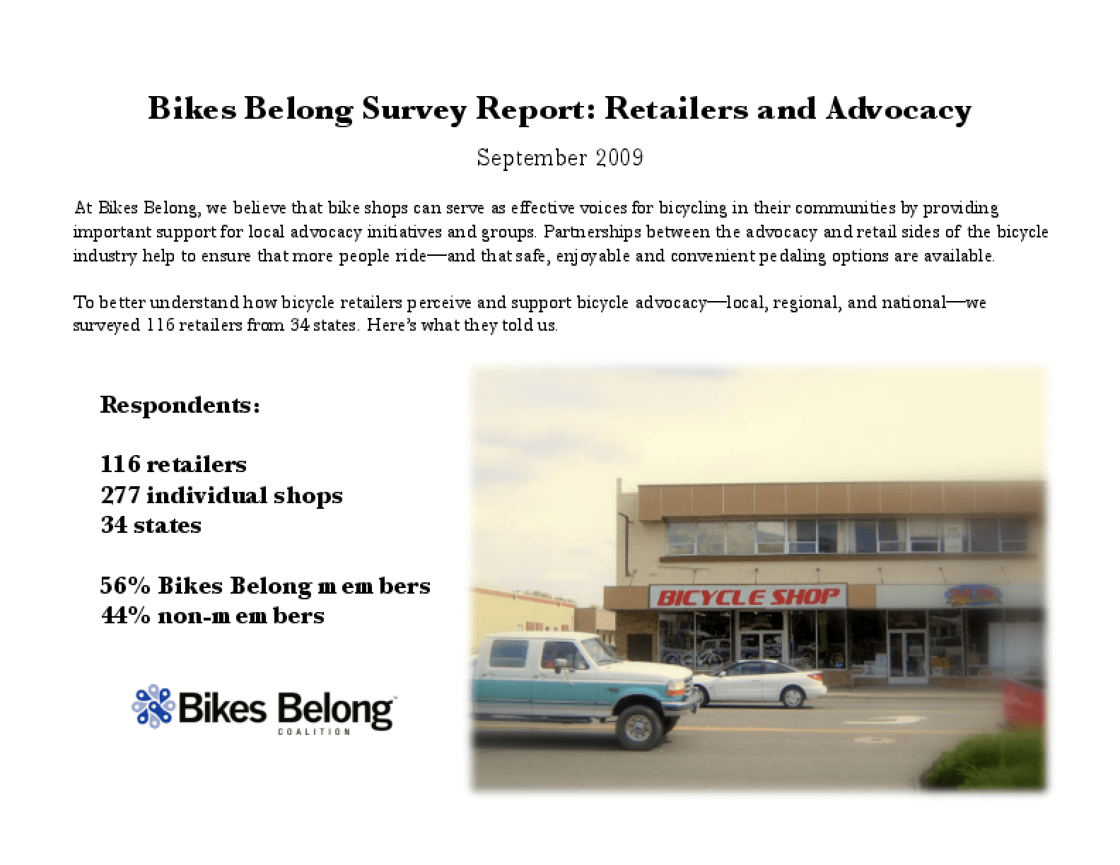 Bicycle Retailers and Advocacy Survey