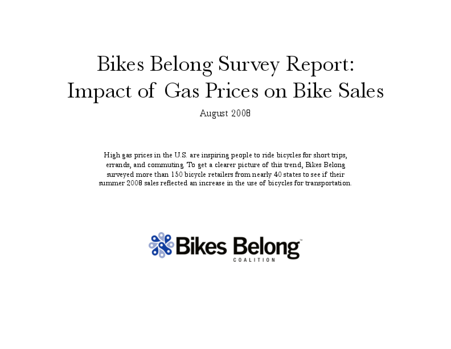 Gas Prices/Bike Sales Survey