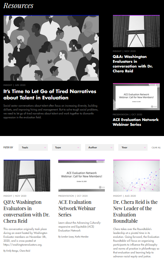 Center for Evaluation Innovation Publication Collection