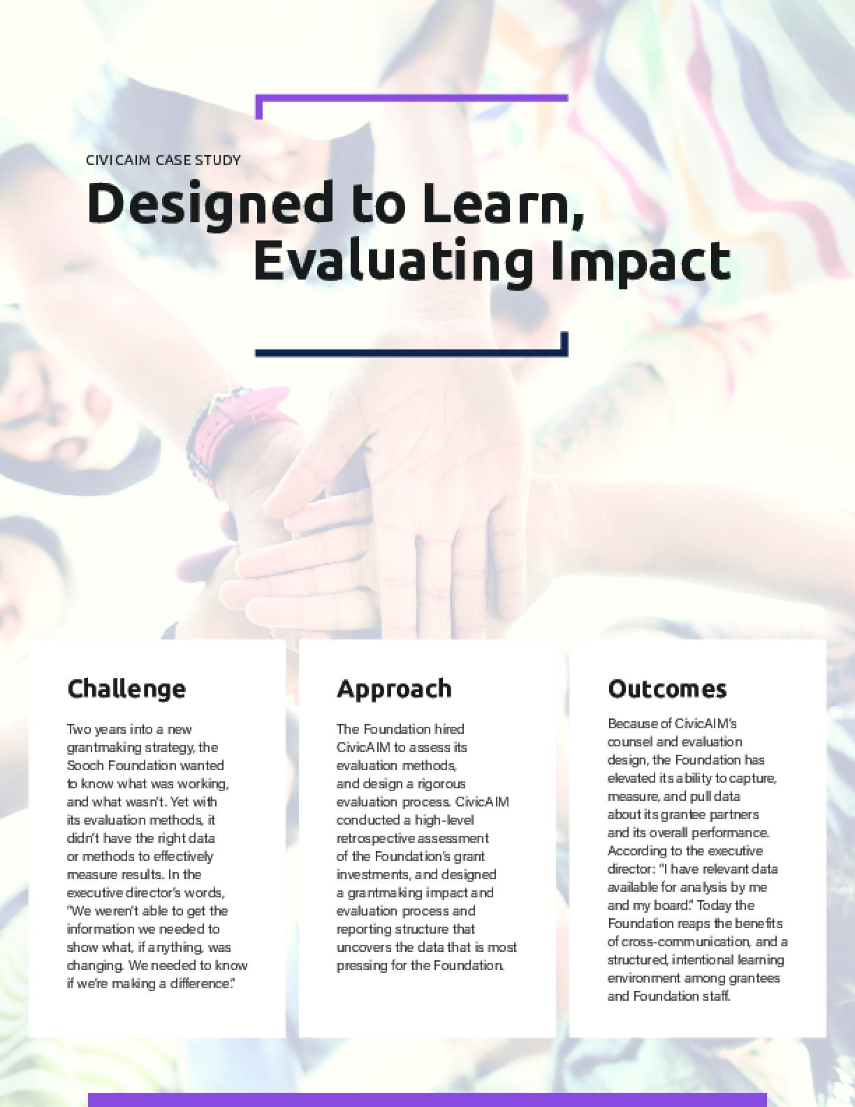CIVICAIM CASE STUDY - Designed to Learn, Evaluating Impact