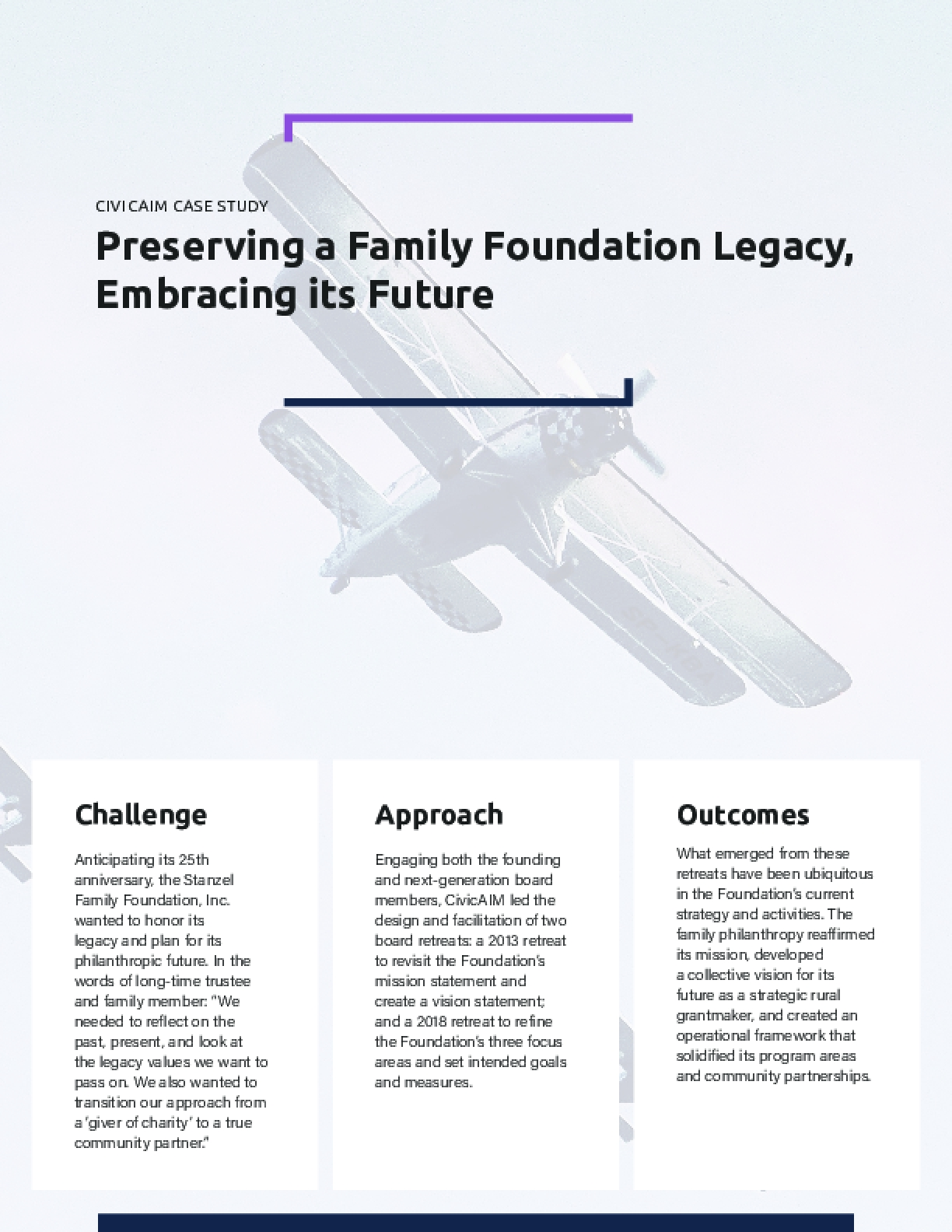 CIVICAIM CASE STUDY -  Preserving a Family Foundation Legacy, Embracing its Future