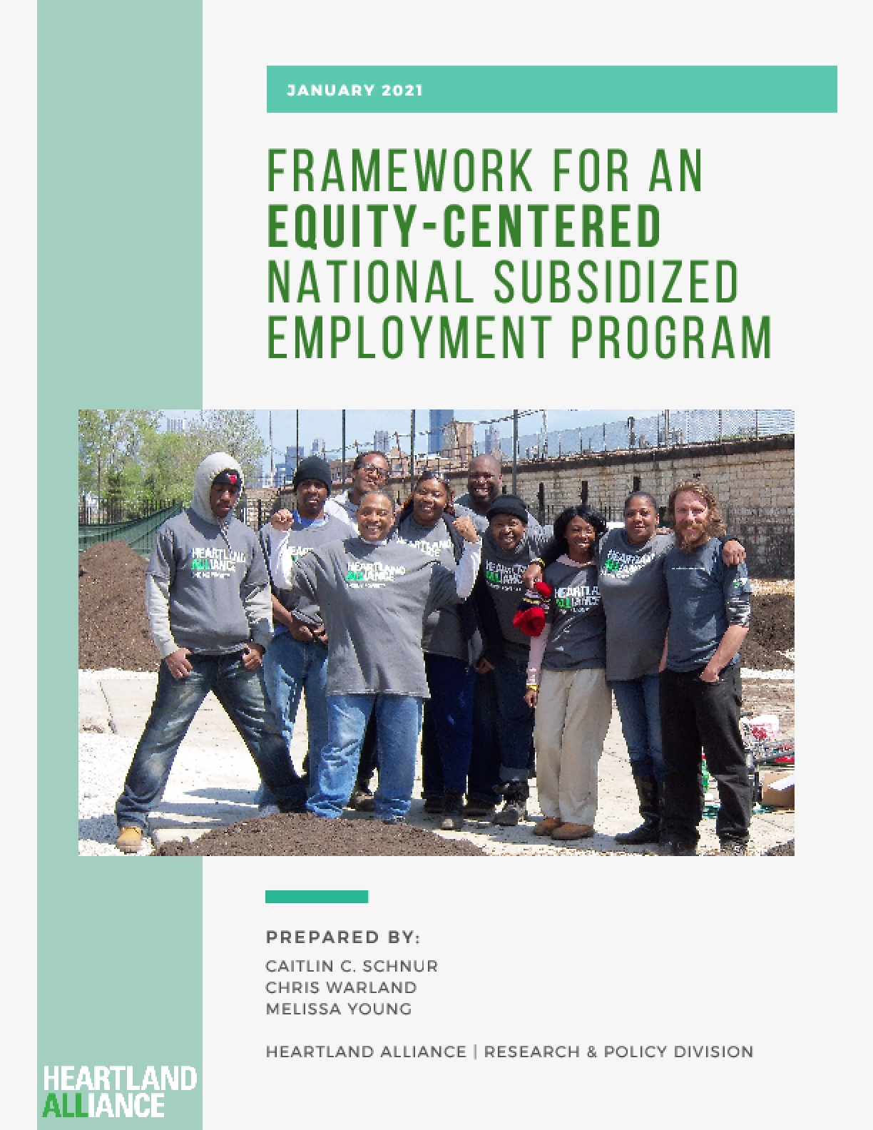 Framework for an Equity-Centered National Subsidized Employment Program