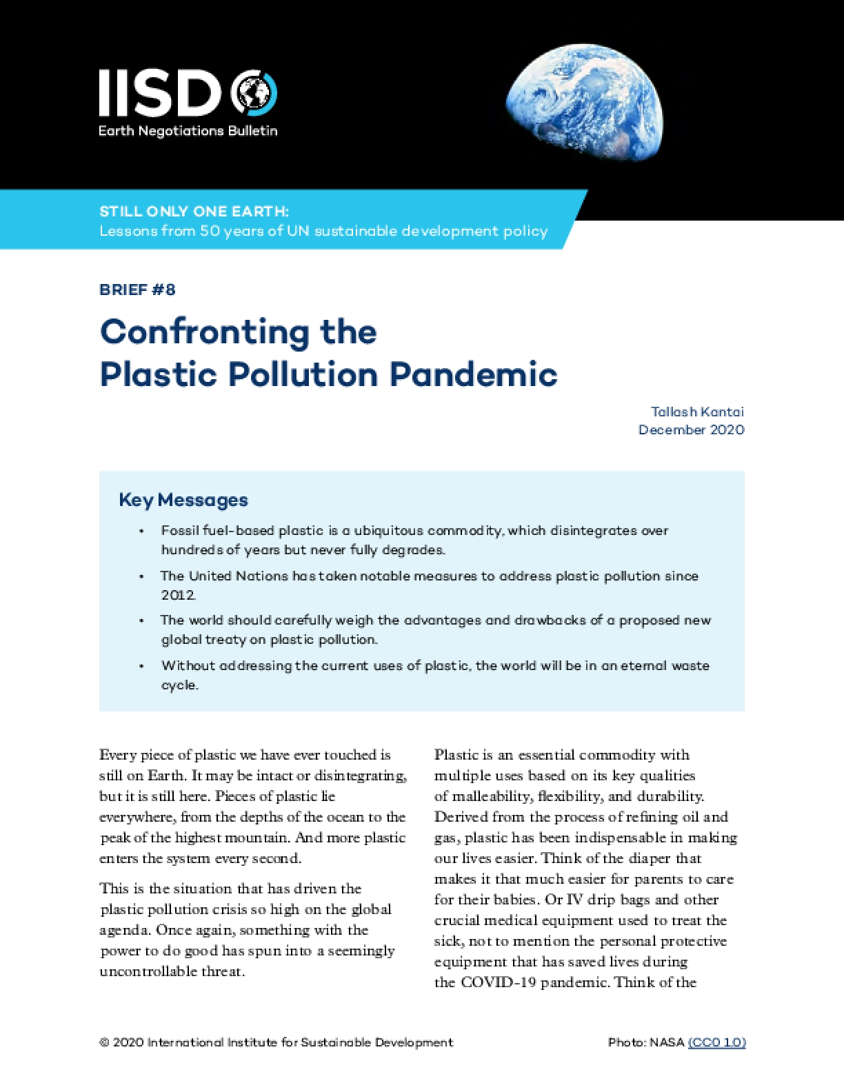 Confronting the Plastic Pollution Pandemic