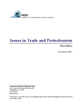 Issues in Trade and Protectionism