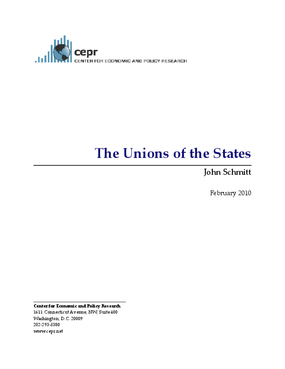 The Unions of the States