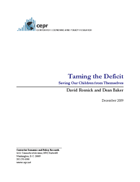 Taming the Deficit: Saving Our Children from Themselves